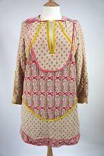 Uno de una clase Tsumori Chisato Impresión De Seda Vestido Acolchado, JP 2 pequeñas