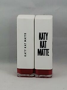 2 PC COVERGIRL Katy Kat Matte Lipstick KP06 Cat Call New and Sealed