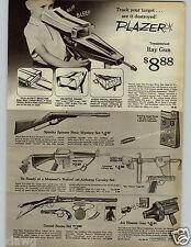 1966 PAPER AD Toy Gun Plazar Ray Daniel Boone Illya Kuryakin Man UNCLE Bond 007