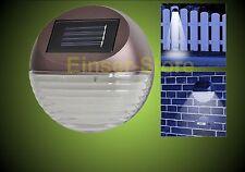 3 x Solar LED Zaunleuchte Wandleuchte Wegbeleuchtung Treppen