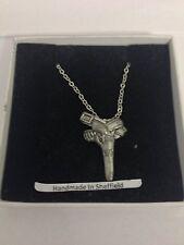 "Gun And Gunbelt PP-W08  Emblem on Silver Platinum Plated Necklace 18"""