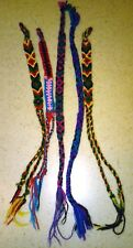 friendship bracelet - lot of 5 - summer camp arts & crafts woven braided