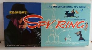 1965 Waddington's Spy Ring The International Spy Game  Board Game. Complete