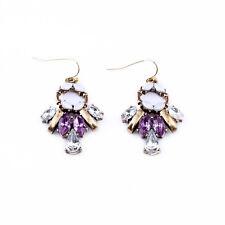 Boucles d`Oreilles Violet Abeille Retro Original Soirée Mariage Cadeau CC 4