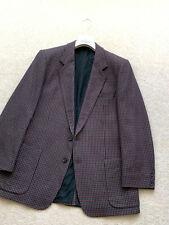 Men's BURBERRYS' Sport Check Blazer Wool Trench Coat Jacket SZ UK 44 EU 54 Suit