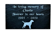 """Personalised Engraved Slate Pet Memorial Grave Marker Plaque for ANY Dog 7 x 4"""""""