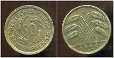 ALLEMAGNE 50  rentenpfennig  1924 J