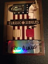 2005 Donruss Classics CS Stan Musial Auto Gu Bat & Patch 1/1 Very Rare Cardinals