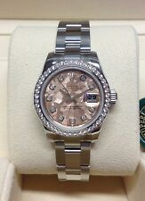 Rolex Datejust Lady 179384 Steel Diamonds and Gold Crystel Dial 26mm W623