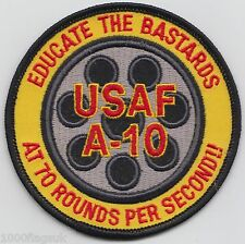 A-10 Thunderbolt II 70 Rounds A Second US Air Force Embroidered Badge Patch *