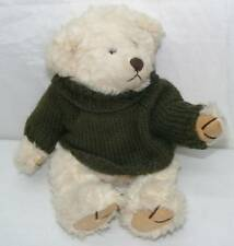 Russ Berrie & Co. Byron Bear Wearing A Green Sweater