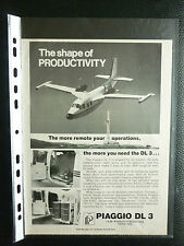12/1982 PUB AVION RINALDO PIAGGIO DL3 ITALIAN AIRCRAFT FLUGZEUG ORIGINAL ADVERT