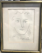 Original Pablo Picasso Pour Roby Etching w/ COA Signed Framed Collectors Guild