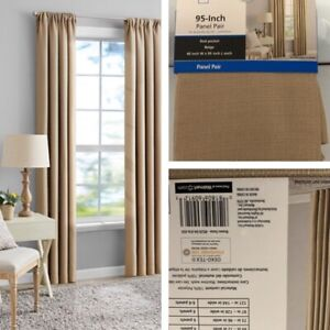 """New, Southport Solid Color Light Filtering Rod Pocket Curtain Panel, 40""""x 95""""."""