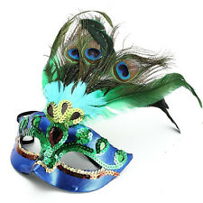 Peacock Feather Eye Mask Masquerade Ball Fancy Dress Hallween Xmas Decor