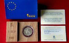 ESPAÑA moneda de 1 ECU PLATA año 1989. Peso 6,70 gr. Europa.