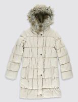 Ex Marks and Spencer Girls Padded Coat Jacket With Stormwear Age 5 - 14 Years