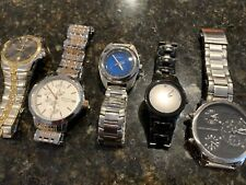 Lot Of 5 Men's Watch Watches Armitron Elgin Fossil Marc Anthony