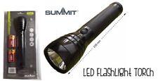 LED FLASHLIGHT TORCH SUMMIT 3W ALUMINIUM 120 LUMENS 235MM LONG