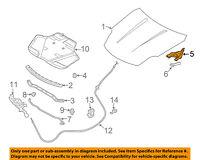 Infiniti NISSAN OEM 06-10 M35 Hood-Hinge Right 65400EJ70A