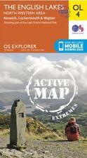 OL4 Lake District North Western Lakes LAMINATED ACTIVE Explorer Map OL 4