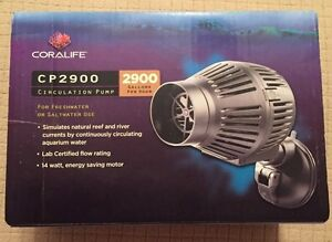 Coralife Cp 2900 Circulation Pump for Fresh or Salt Water, LOTS of FLOW NEW!!