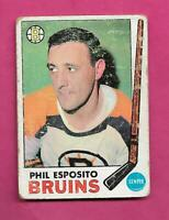 1969-70 TOPPS # 30 BRUINS PHIL ESPOSITO GOOD CARD (INV# C5618)