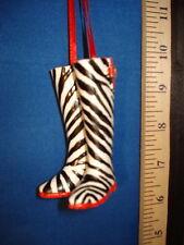 High Heel Ornament Zebra Boots 0823z 14