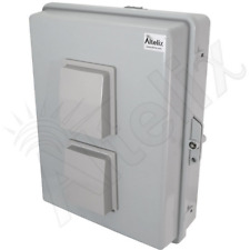 Altelix 17x14x6 Polycarbonate + Abs Outdoor Vented Nema Box with Aluminum Plate
