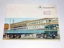 MERCEDES-BENZ Pritschenwagen Sattelschlepper Prospekt Heft 1963