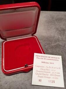 Ecrin Pour Pièce De Monaco 2013 BE,avec Certificat D Authenticité