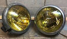Pair Of Vintage Appleton Series 146 Light W/ Amber Mazda Fog Light Bulb