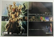 Final Fantasy XII Print Ad Art Game Poster PROMO Official PS2 PlayStation 2