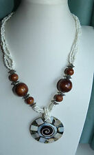 Wooden Pearl Fashion Necklaces & Pendants