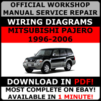 # OFFICIAL WORKSHOP SERVICE Repair MANUAL MITSUBISHI PAJERO 1996-2006 +WIRING#