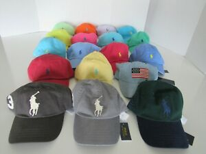 Polo Ralph Lauren Mens Pony Baseball Cap Hat Adjustable Nwt