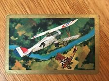 Vintage Nu-Vue Swap Playing Card Red Baron WWI Aviation Single Card Trading