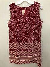 Womens Pink Owl Sleeveless Dress Red Size Large