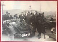 Automobilismo grande fotografia 24X17 cm Gara automobile con targa Napoli