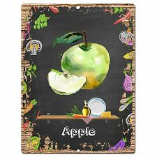 PP0901 APPLE Parking Plate Chic Sign Home Restaurant Cafe Kitchen Decor Gift