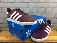 ADIDAS MENS UK 7 EU 40 2/3 350  BLUE WHITE SUEDE TRAINERS RRP £70 LG