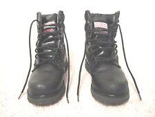 Unisex military-style boots, warm, black, size 8 (women)/6.5 (men)
