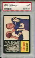 1962 Topps Football #90 Fran Tarkenton Rookie Card RC Graded Nr Mint 7 Vikings