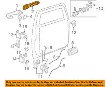 Hummer GM OEM 06-10 H3 Front Door-Handle Base Left 25878779