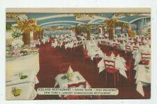 Vtg Linen Postcard ICELAND RESTAURANT NEW YORK NY  #S166