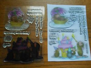 Stampendous Clear Stamp Set House Mouse Mice Wishes Birthday