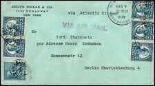 7 Dec 1939 3d Reich Censor Cover To Germany. Censor Strip On Rear