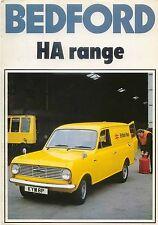 Bedford HA 110 130 Van 1977 Original UK Sales Brochure No B/BX1735 Vauxhall Viva