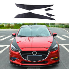 Front Engine Surface Stickers Carbon Fiber Color Trim Fit For Mazda3 Axela 17-18