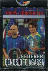 2005 Topps Chronicles #TC37 Roger Federer Fends Off Andre Agassi